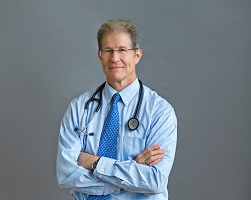 Image of Dr. Jonas with stethescope for medical education article