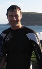 Photo of Dr Gartland in a wet suit