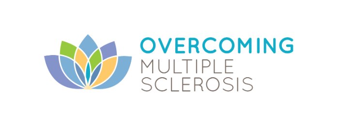 Overcoming Multiple Sclerosis Logo with lotus flower