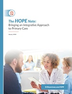 Cover image reading: The HOPE Note: Bringing and Integrative Approach to Primary Care
